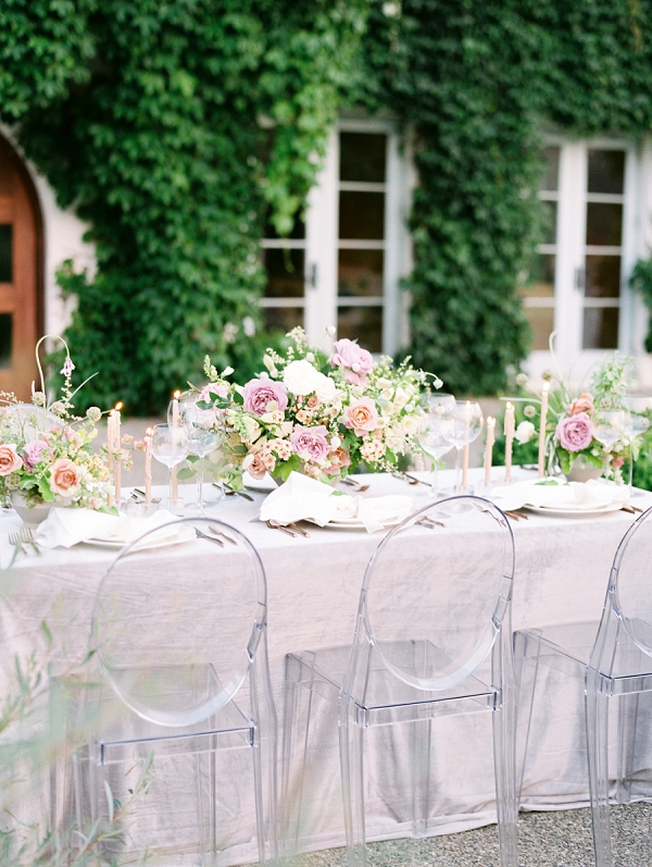 Ghost Chairs for Wedding Seating   French Provence Wedding Inspiration by Savan Photography