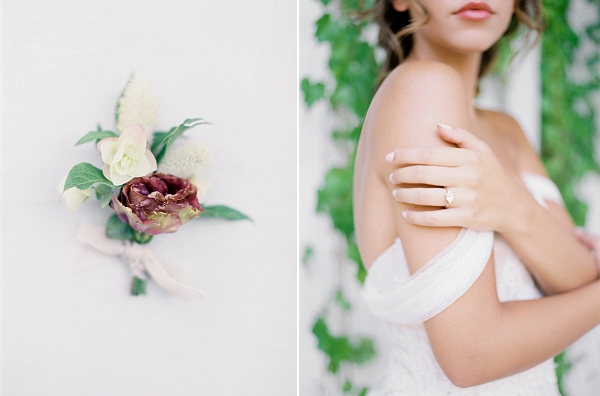 Boutonniere   French Provence Wedding Inspiration by Savan Photography