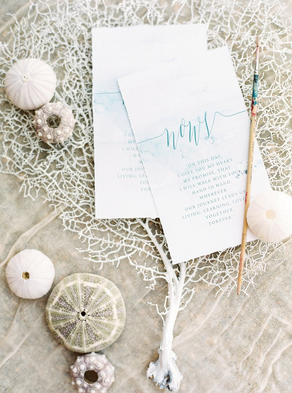 Calligraphy Invitation Suite | Seaside Elopement Inspiration by Darya Kamalova of Thecablookfotolab
