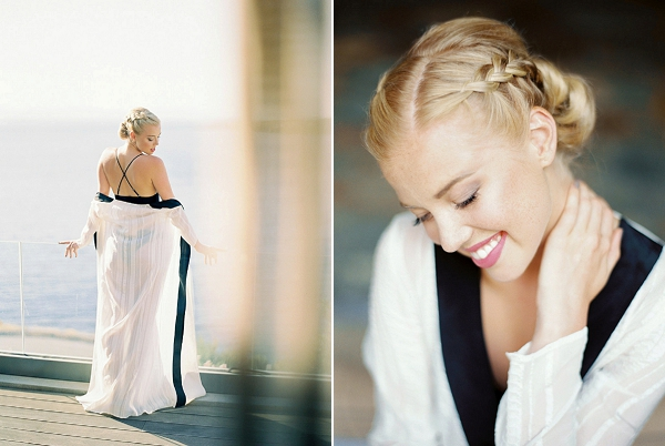 Swimsuit and Robe for the Honeymoon | Seaside Elopement Inspiration by Darya Kamalova of Thecablookfotolab