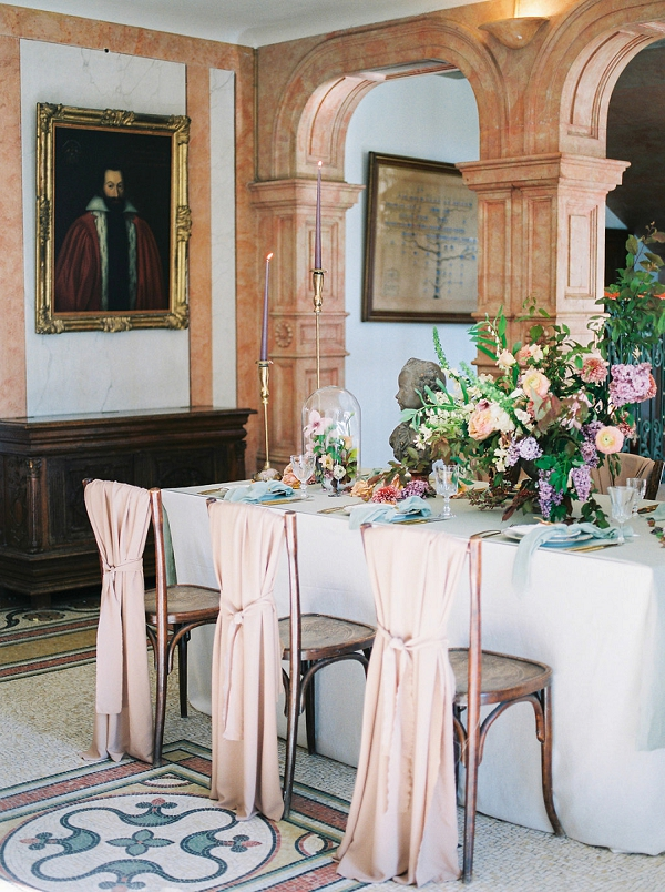 Draped Reception Chairs | Jenzel Velo Photography from the Sylvie Gil Workshop in France