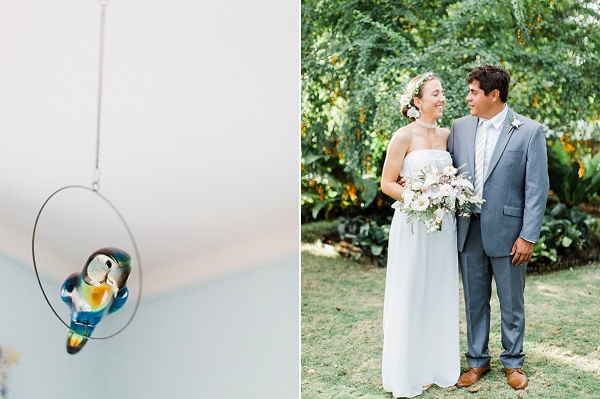 Bride and Groom | Colourful Backyard Barbados Wedding by Corynn Fowler Photography