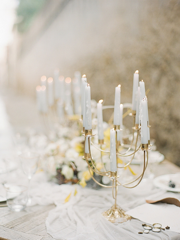 Candlelight | Lost In Spain Wedding Editorial with Elisabeth Van Lent Photography