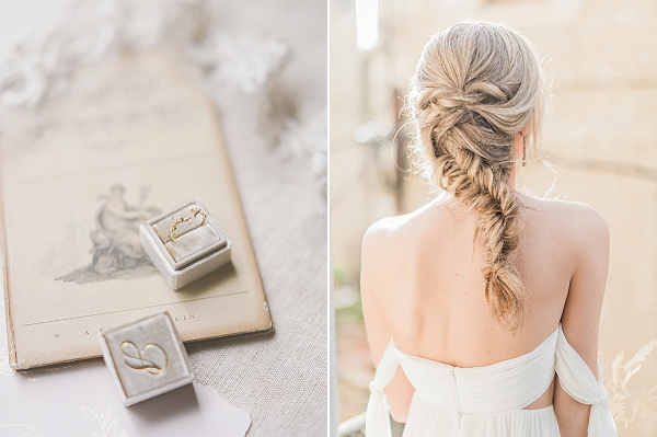 Fishtail Braid Bridal Hairstyle | Lost In Spain Wedding Editorial with Elisabeth Van Lent Photography
