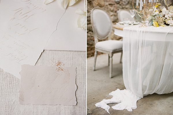 Light Fabric Runner | Lost In Spain Wedding Editorial with Elisabeth Van Lent Photography