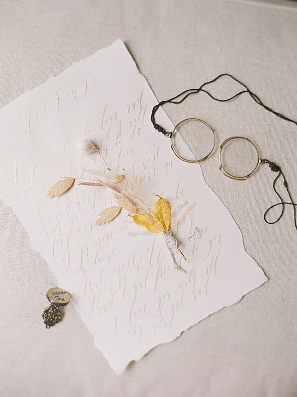 Delicate Calligraphy | Lost In Spain Wedding Editorial with Elisabeth Van Lent Photography