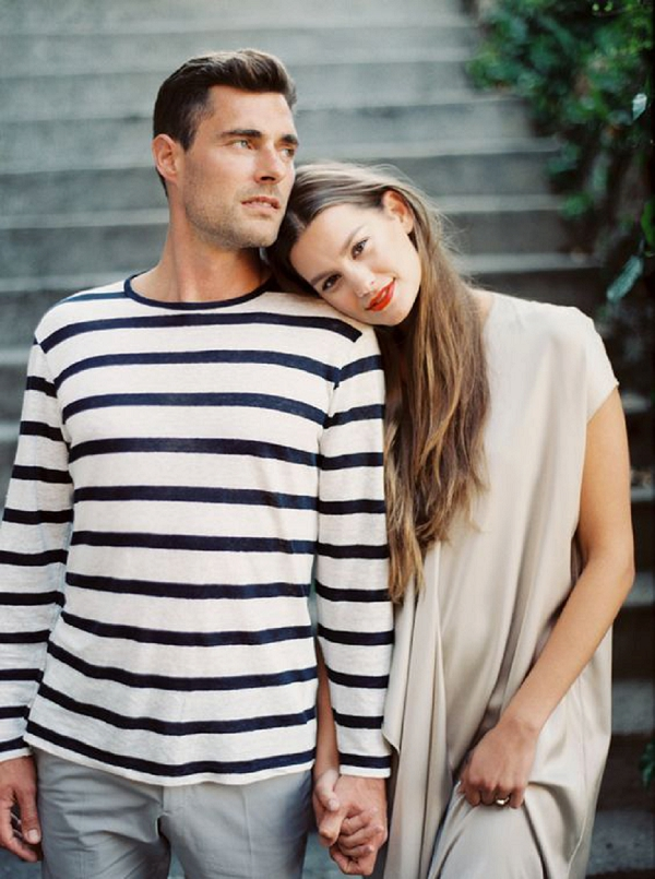 Engagement Session | Summer Wedding and Engagement Ideas with Stripes