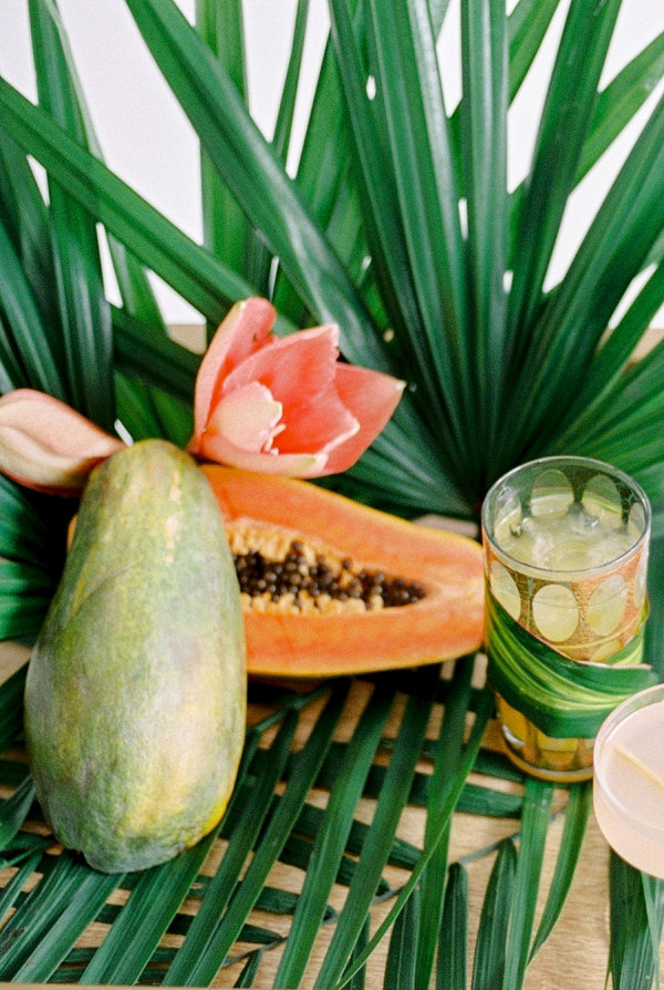 Tropical Fruit | Indoor Tropical Wedding Inspiration by Kerry Jeanne Photography