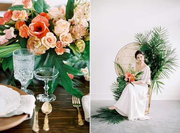 Tropical Bride | Indoor Tropical Wedding Inspiration by Kerry Jeanne Photography